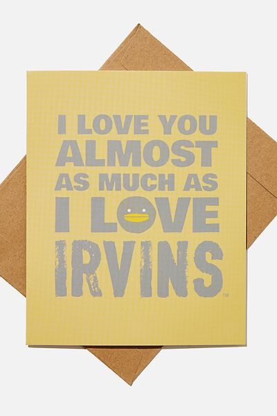 Love Card, LCN IRV LOVE YOU AS MUCH AS IRVINS