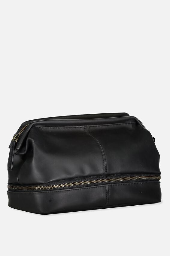 Debonair Wash Bag, BLACK