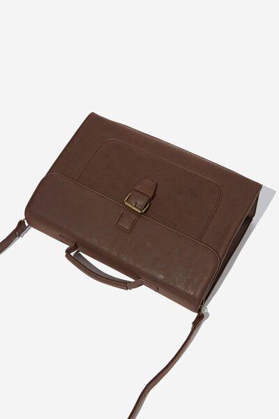 Nuevo Satchel Bag, RICH TAN
