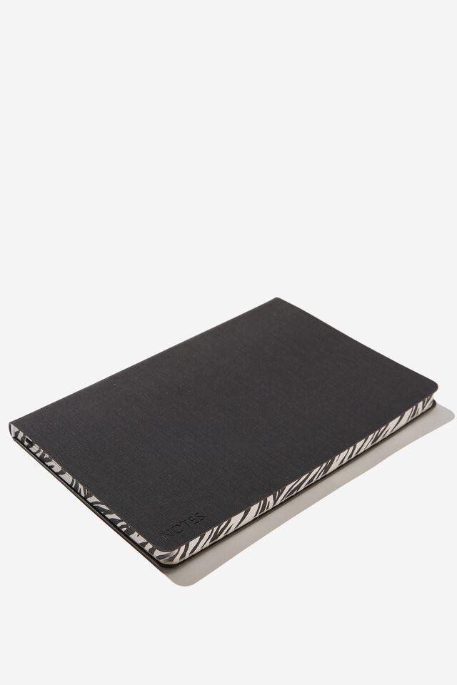 Florence A5 Journal, BLACK ZEBRA
