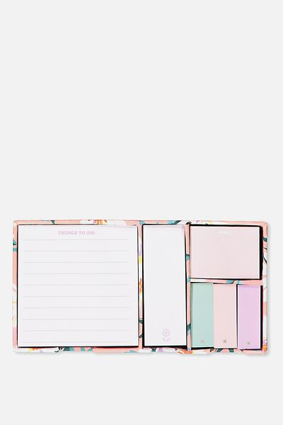 Boxed Sticky Notes, PINK DAISY