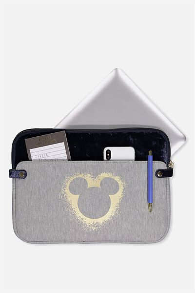 Varsity Laptop Case 13 Inch, LCN GREY MARLE MICKEY HEAD