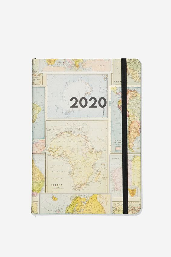 2020 A5 Weekly Buffalo Diary, MAP