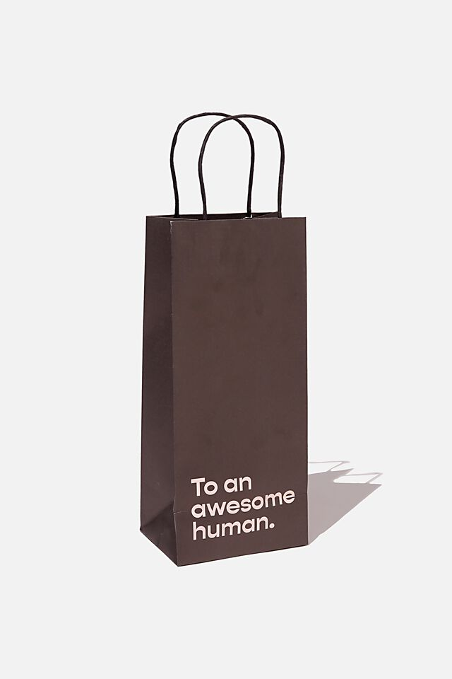 Bottle Gift Bag, TO AN AWESOME HUMAN