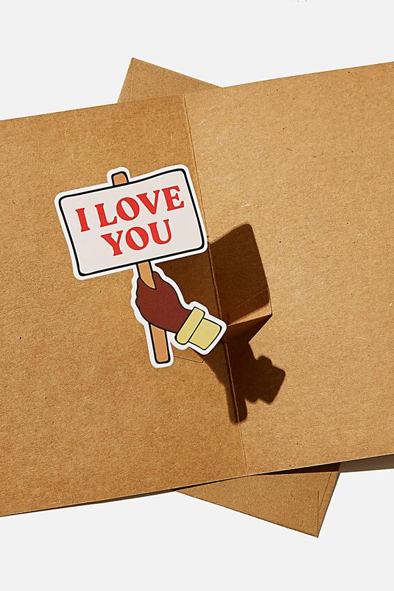Premium Love Card, POP UP I LOVE YOU