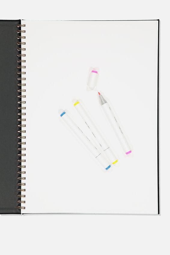A3 Premium Sketch Book, BLACK