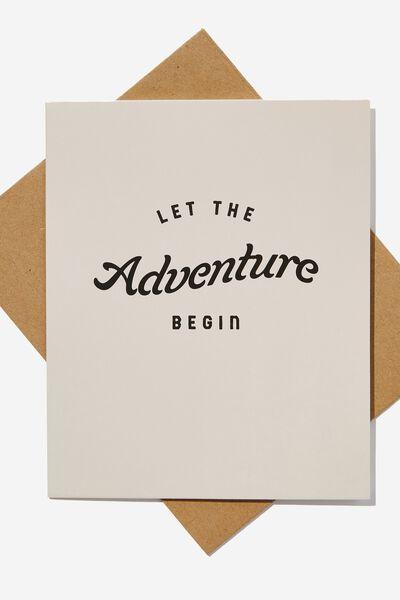 Goodbye Card, LET THE ADVENTURE BEGIN
