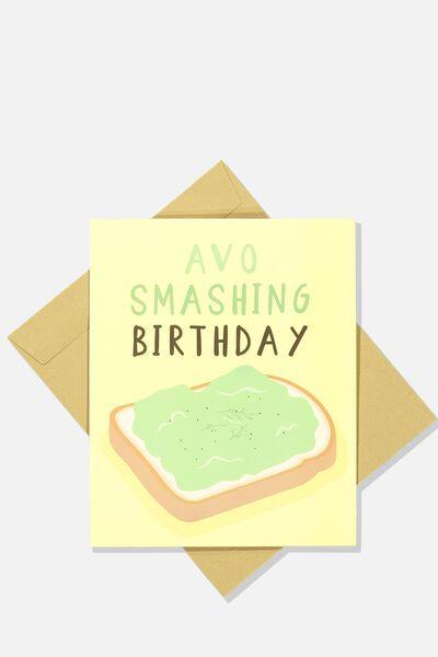 Nice Birthday Card, AVO SMASHING BIRTHDAY