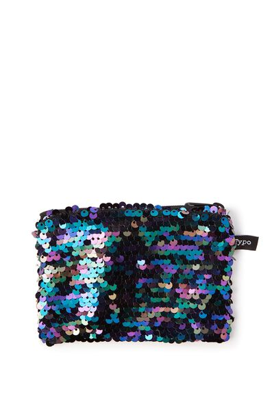 Penny Coin Purse, OIL SLICK SEQUIN