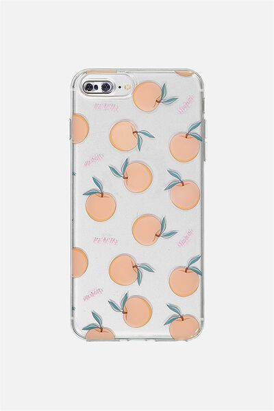 Transparent Phone Cover 6,7,8 Plus, PEACH YARDAGE