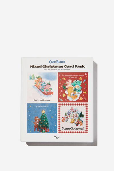 Christmas Card 20 Pack, LCN CLC CARE BEARS