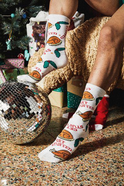 Mens Novelty Socks, GOBBLE GOBBLE