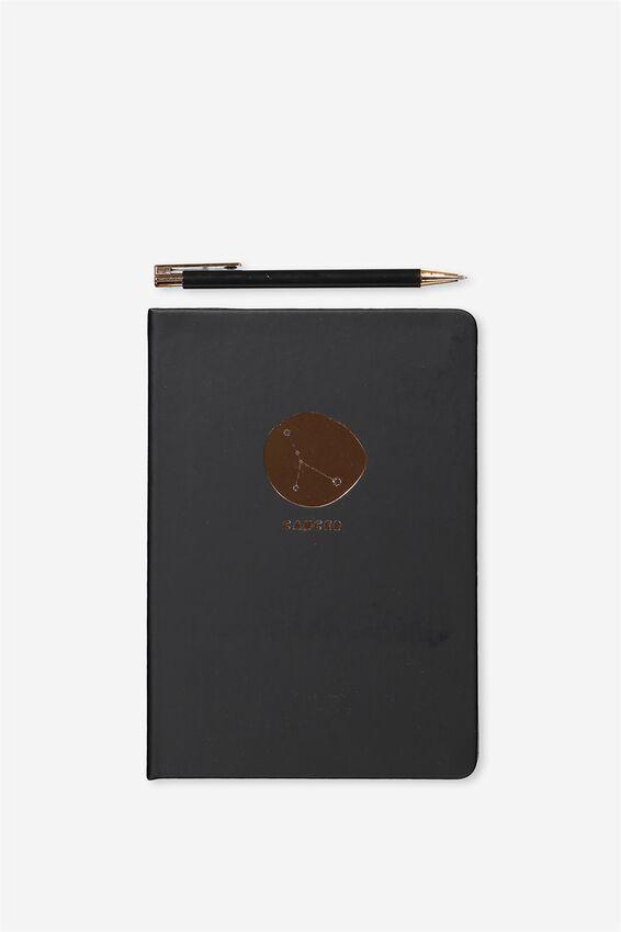 Notebook And Pen Set, ZODIAC CANCER