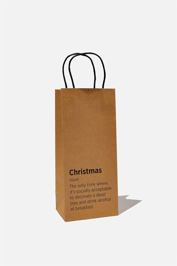 Bottle Gift Bag, CHRISTMAS NOUN