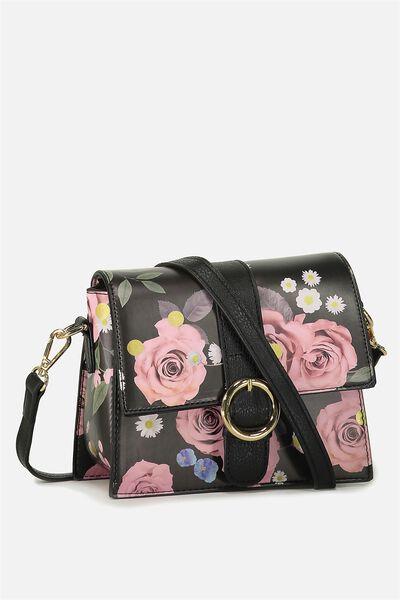 Micro Cross Body Bag, POLKA FLORAL