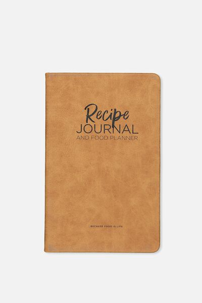 Premium Activity Journal, RECIPE TAN