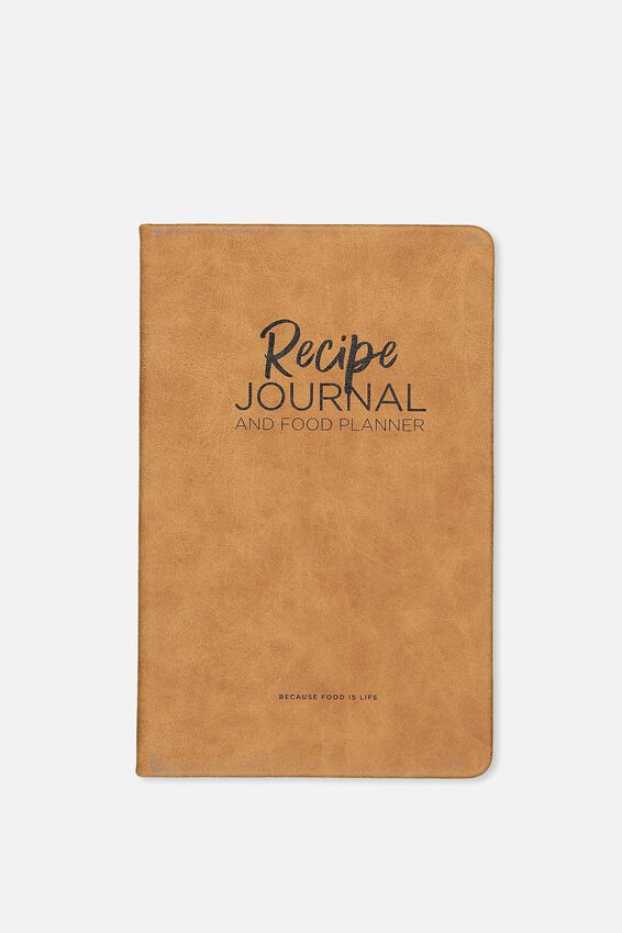 Premium Activity Journal, RECIPE TAN