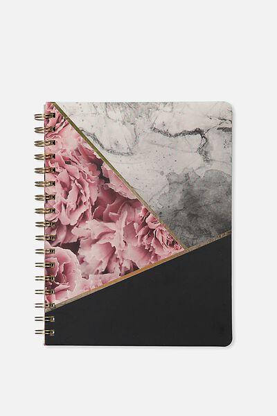 B5 Premium Spiral Notebook, MARBLE SPLICE