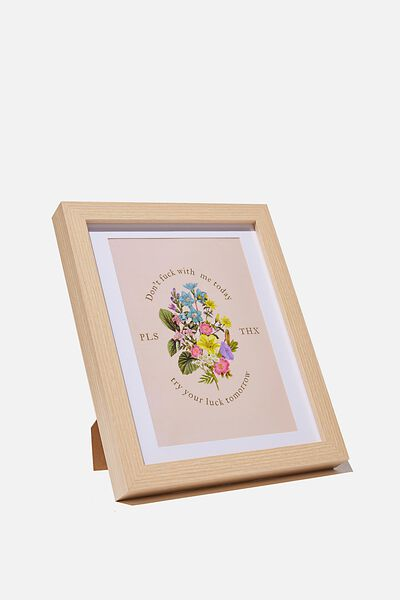 A5 Framed Print, DON T EFF WITH ME FLORAL!!