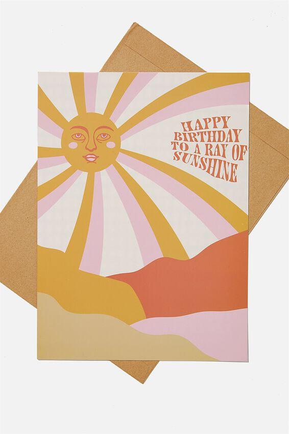 Large Card, HAPPY BIRTHDAY SUNSHINE