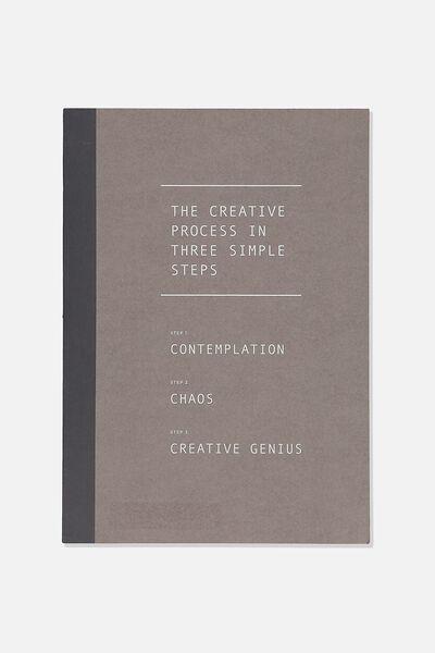 A4 Sketch Mate Book, BLACK THE CREATIVE PROCESS
