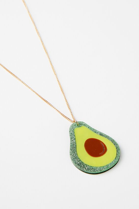 Premium Novelty Necklace, AVOCADO