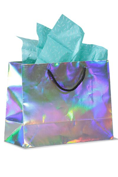 Stuff It Gift Bag Medium With Tissue Paper, HOLOGRAPHIC