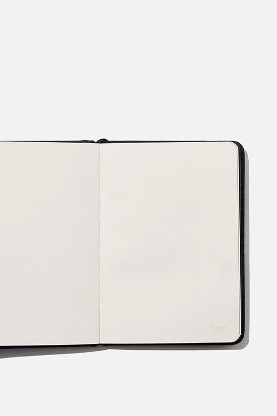 "A6 Buffalo Dot Journal (5.8"" x 4.1""), JET BLACK"