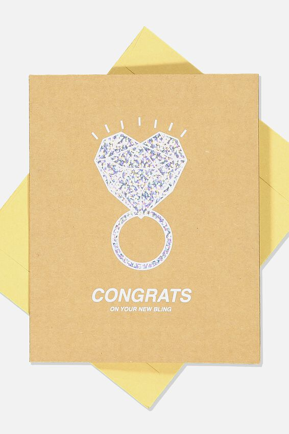Engagement Card, ENGAGEMENT HEART RING