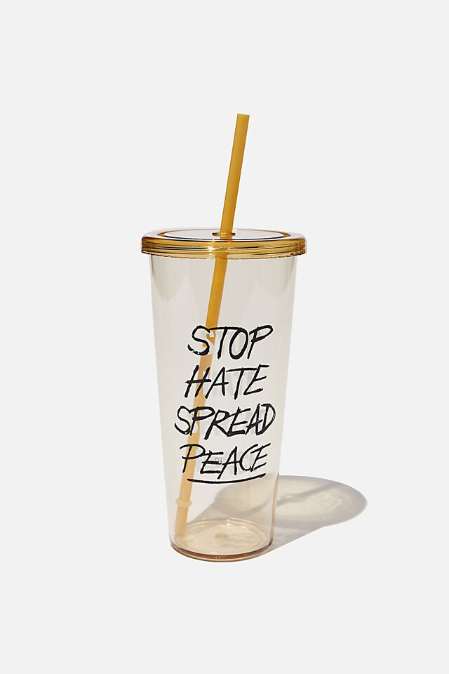 Sipper Smoothie Cup, STOP HATE SPREAD PEACE