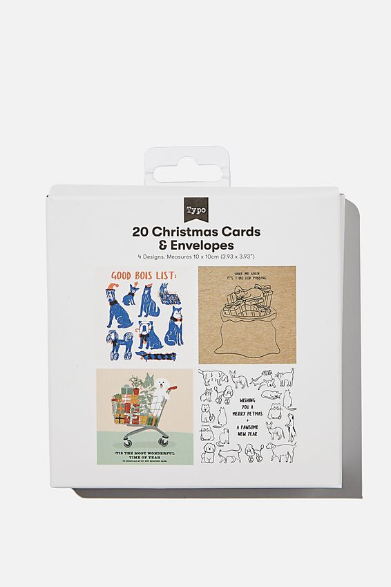 Christmas Card 20 Pack 2020, FESTIVE ANIMALS!
