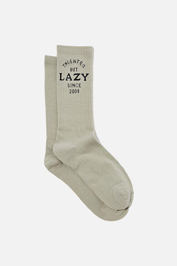 Socks, TALENTED BUT LAZY GREY TUBE