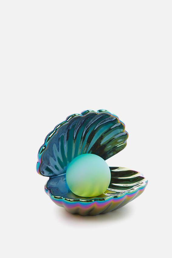 Mini Ceramic Novelty Light, CLAM OIL SPILL