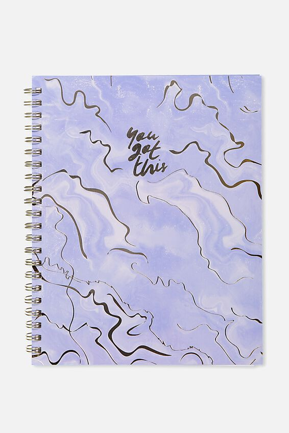 A4 Campus Notebook, YOU GOT THIS CORNFLOWER AGATE