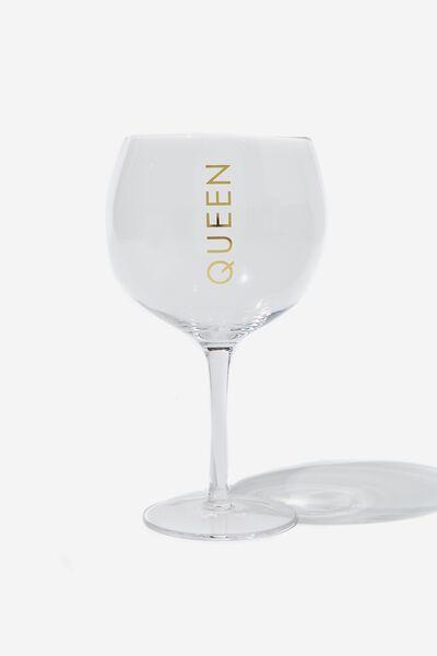 Mega Drinker Glass, QUEEN!