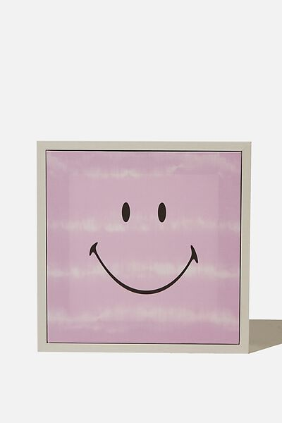 24 X 24 Mini Canvas Art, LCN SMI SMILEY PURPLE TIE DYE