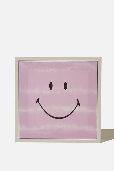 24 X 24 Mini Canvas Art, LCN SMI SMILEY PURPLE TIE DYE