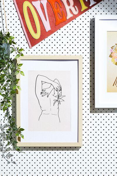 A4 Framed Print, LINE ART NUDE!