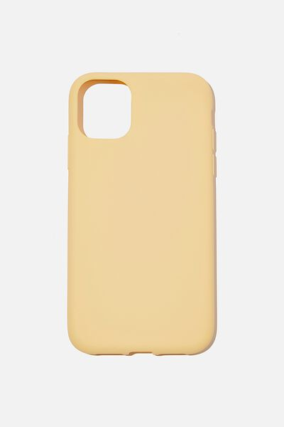 Recycled Phone Case iPhone 11, WASHED MUSTARD