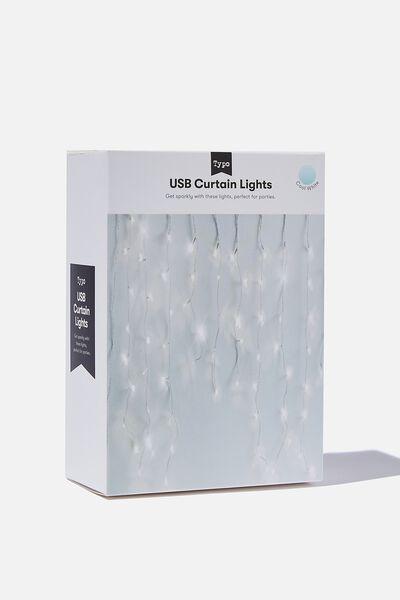 Usb Curtain Lights, CLEAR LIGHT