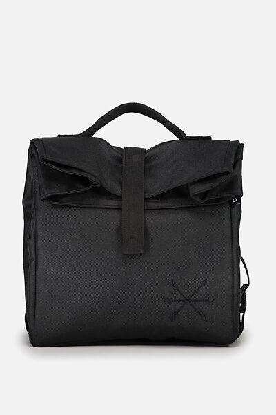 Rolled Lunch Bag, BLACK