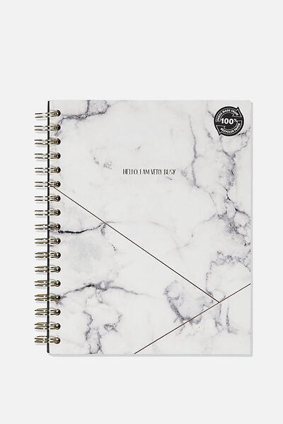 Ultimate Spiral Notebook, WHITE MARBLE