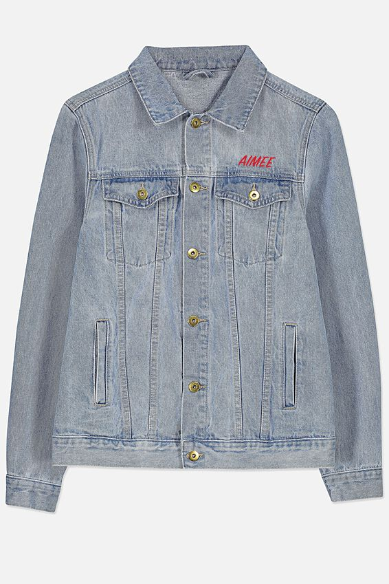 Minnie Mouse Personalised Denim Jacket, LCN MINNIE MOUSE