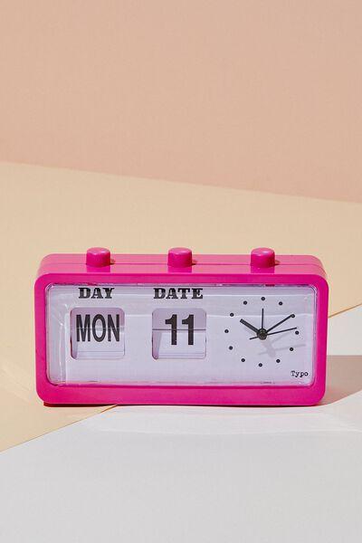 Retro Flip Clock, MAGENTA