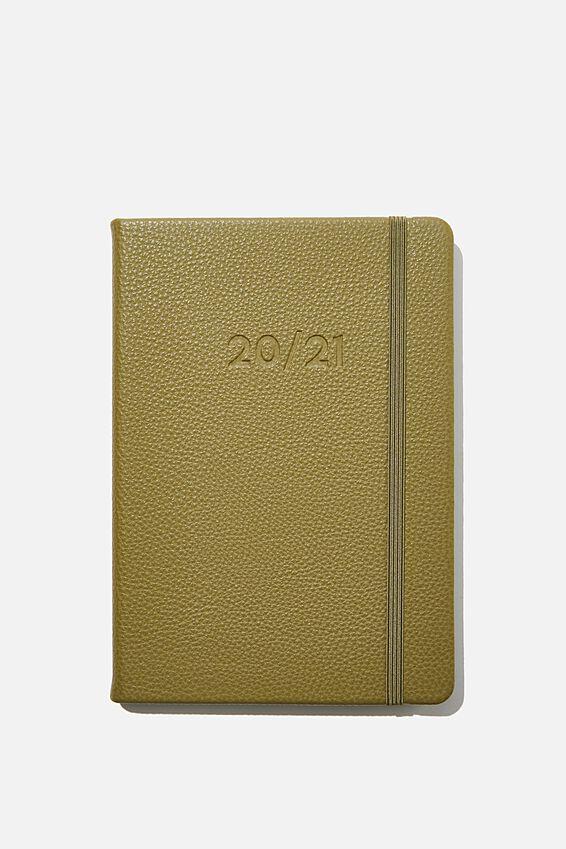 2020 21 A5 Weekly Buffalo Diary, KHAKI