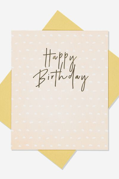Nice Birthday Card, DOTTED LINES BIRTHDAY