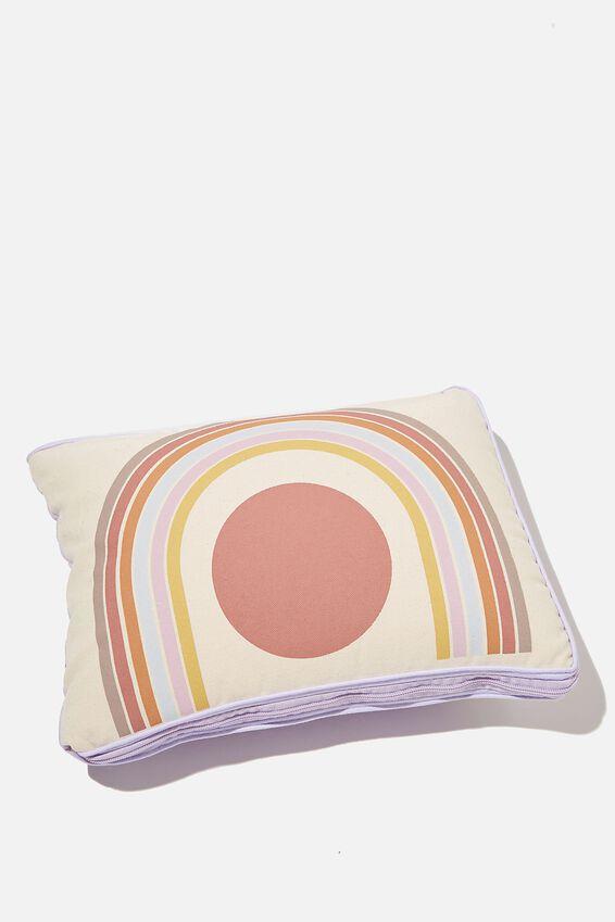 Convertible Cushion Throw, PALE LILAC ARCH
