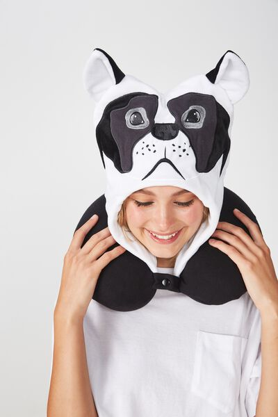 Travel Pillow With Hood, NOVELTY FRENCHIE