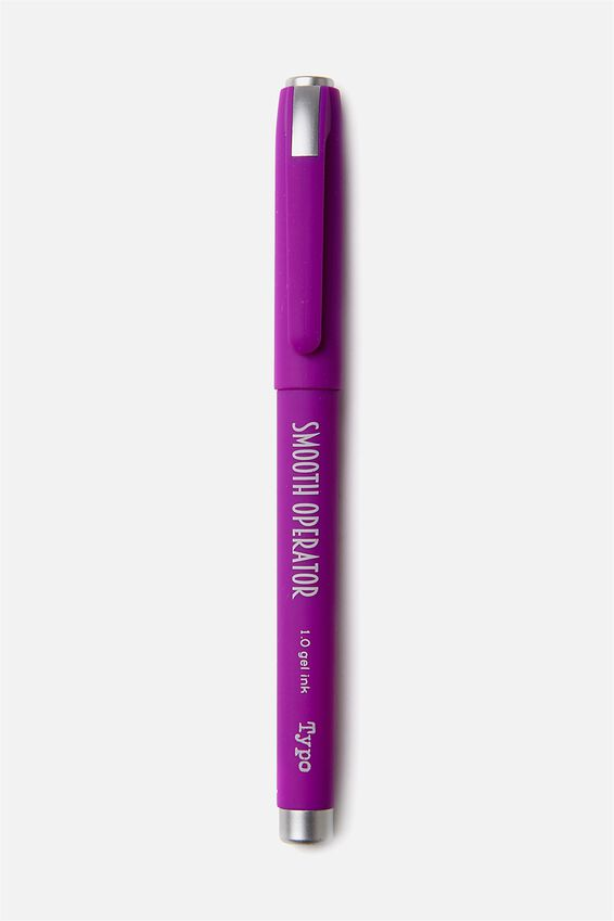 Smooth Operator Gel Pen, PURPLE