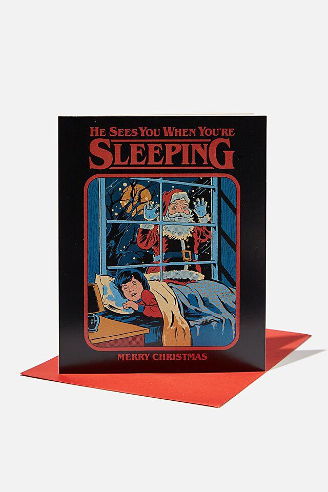 Steven Rhodes Christmas Card 2021, LCN STE STEVEN RHODES SANTA SEES YOU!